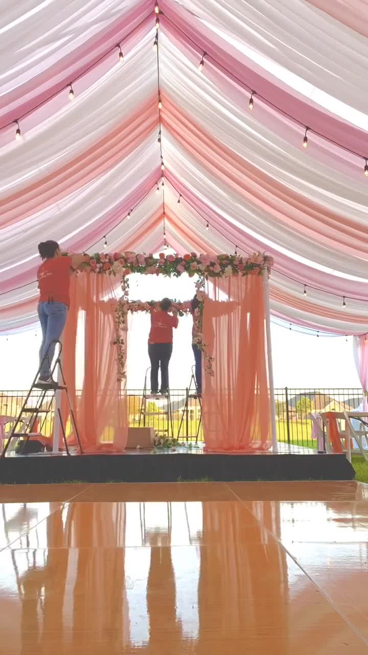 8 hours of work in 1 min. Like for the final result!  #wedding #eventdecor #flower #flowers #foryou #stagedecoration #eventlife #boda #transformation of view tiktok online