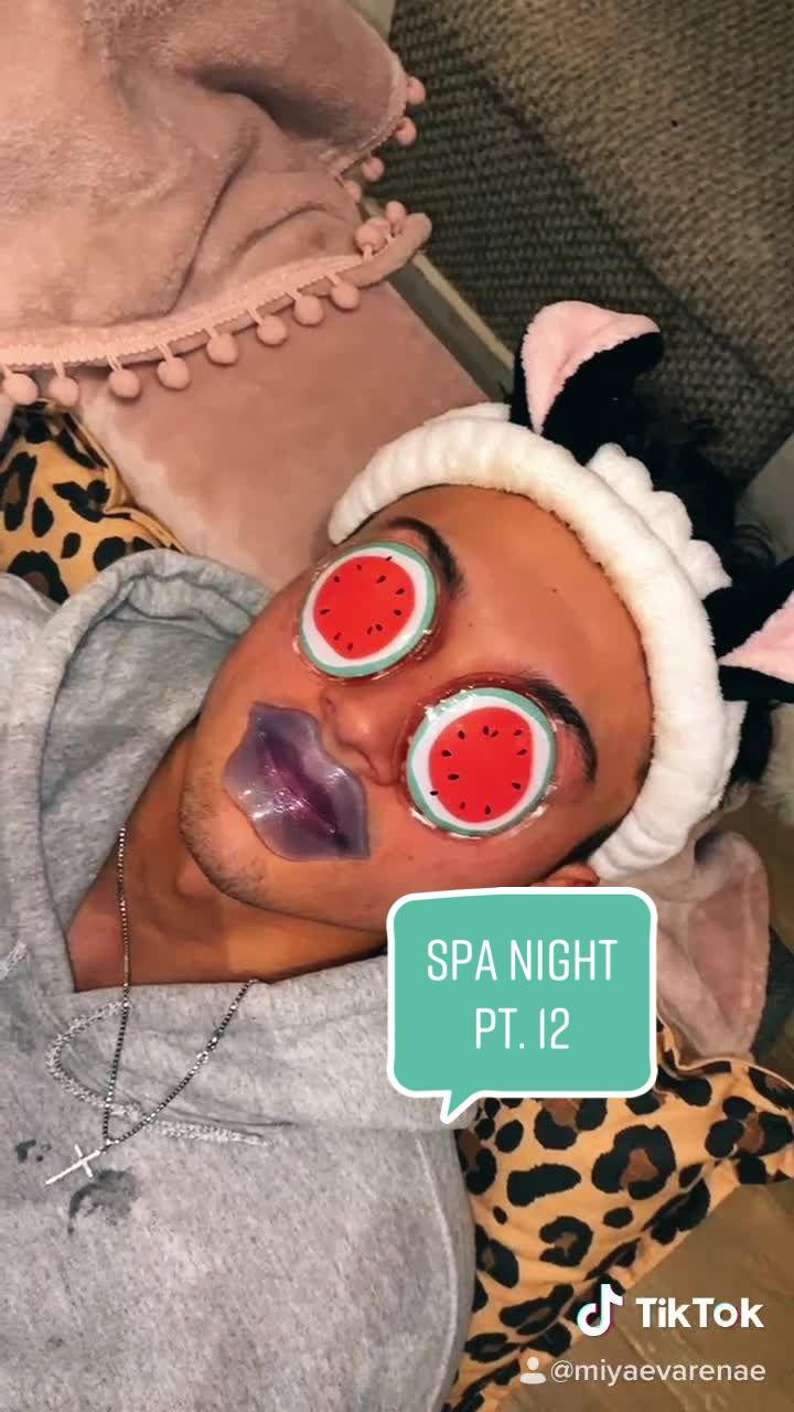 He was extra goofy  😂🥰 #spa #spanight #spanightroutine #skincare #skincareroutine #boyfriend #hygiene #fyp #foryou #foryoupage #UnwrapTheDeals of tiktok video please