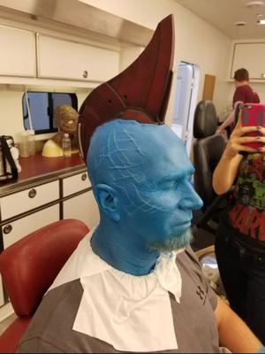Gamora and Yandu Stunts for Guardians 2 #makeup #art #fyp #foryoupage #marvel #guardiansofthegalaxy #avengers #makeupartist #makeuptutorial #movie