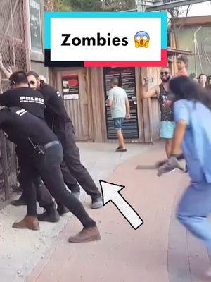Oh meu deus 😱 Os polícias estão em apuros com os Zombies 🧟 #fy #scary #viral #zumbi #zombies #tiktokindia #tiktokworld tiktok
