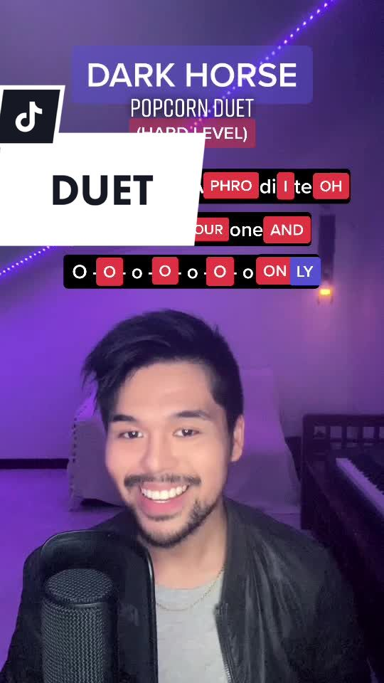 for those who want some extra challenge! DARK HORSE #popcornduet hard level haha let's see who can nail the riff🔥 #fyp