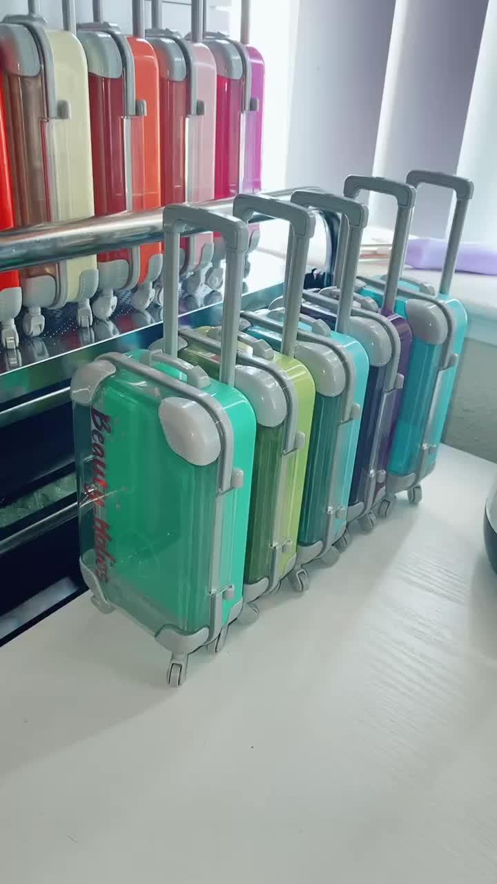 Eyelash suitcase ready 🥰😎#eyelashes #smallbusiness #order #eyelashsuitcase #vacations #asmr of tiktok ka video