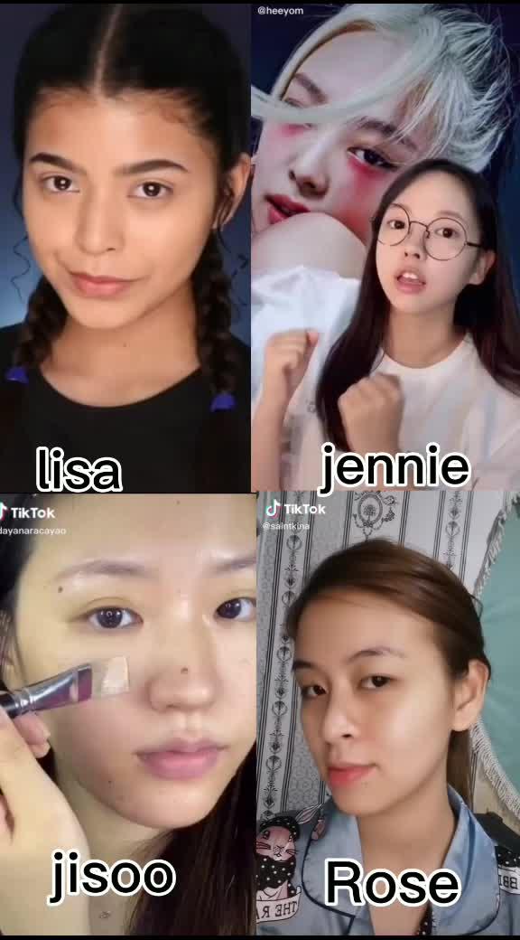 Makeup #HowYouLikeThat #blackpink #lisa #rose #jennie #jisoo #fayati_jiminie #fypシ tiktok