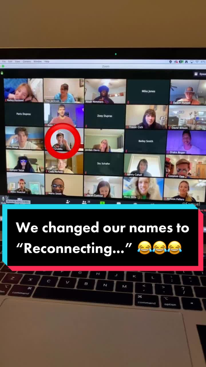 Our WHOLE Zoom class pranked our teacher Pt.2 😱😱 (Wait for it...) #foryou #fyp #foryoupage #fyp #tiktok #viral #funny #trend #trending #SamuelGrubbs