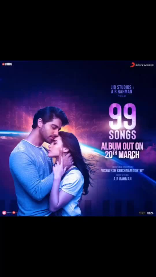 Cheering you in this difficult times with the release of the '#99Songs' whole album on 20th Mar. This includes 14 tracks. #99songs #arrahman