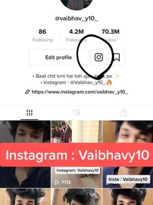 Jaldi se ajao  Instagram par ❤️ ( Instagram: vaibhavy10 #vaib #vaibhavyadav TikTok