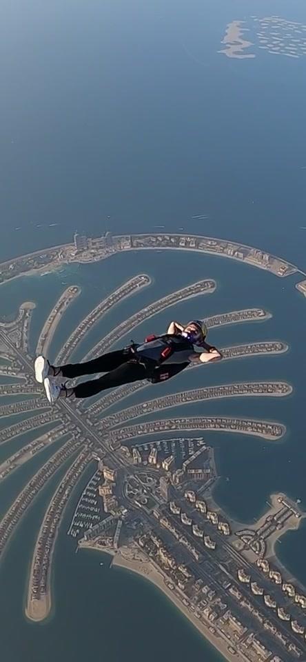 Just chilling #skydiving #dubai #palm #Summer 🎬- christopherpatz on Instagram @redbull tiktok