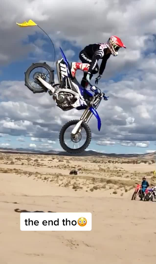 one of my gnarliest crashes caught on camera 😩 #moto #fail #failarmy #motocross #dirtbike #dirtbikefails #sendit #dunes #fup #foryou #fyp #viral #yes of faisu khan tiktok