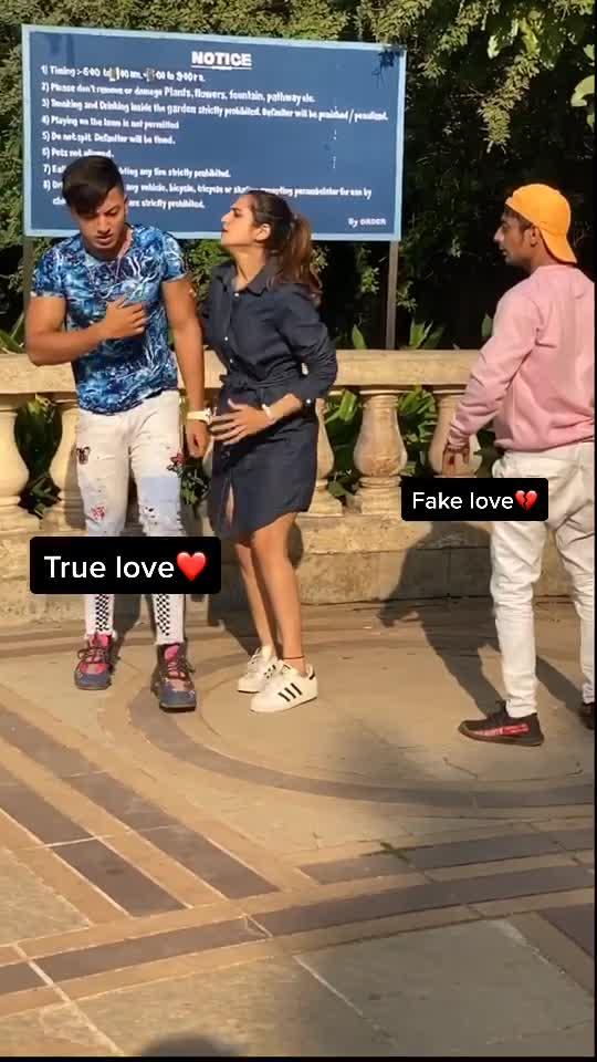 True Love❤️ vs Fake Love💔 w/@riyaa1998 @khushfarooqui #foryou #fyp #foryoupage #dgang TikTok