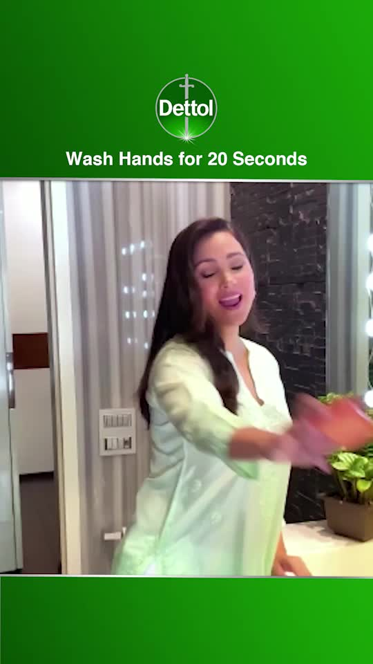 Wash Hands with soap for 20 secs @mirzasaniar @shikhardofficial @nehadhupiaofficial Issued in Public Interest by Dettol