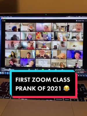 Our WHOLE Zoom class pranked our teacher 😂😂 #foryou #fyp #foryoupage #fyp #tiktok #viral #funny #trend #trending #lol #viealvideo #comedy #meme